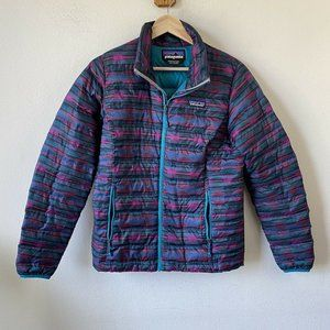 Patagonia Down Sweater Jacket Aztec Pattern